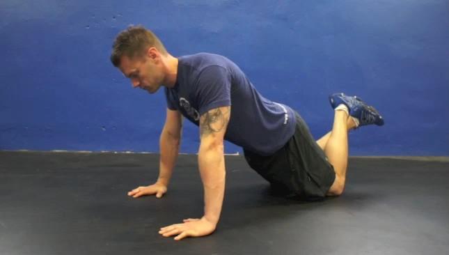 flexão de joelhos